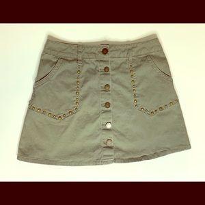 Jolt Hunter Green High Waist Mini Skirt